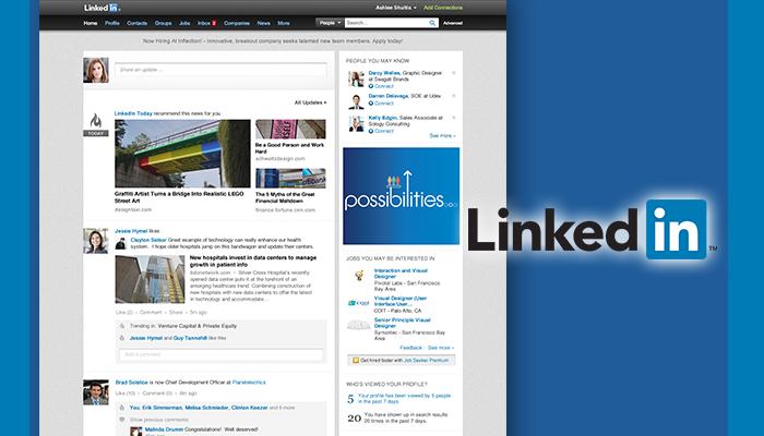 LinkedIn Showcases New Homepage Design