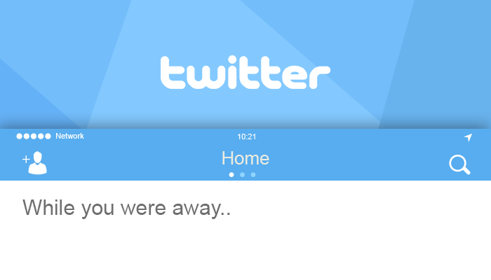 """While You Were Away"" Feature Comes to Twitter Timeline"